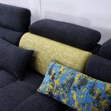 青いファブリックソファーのホテルの居間の現代寝室の家具Fb1146