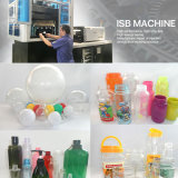 Una máquina plástica del moldeo por insuflación de aire comprimido de inyección del animal doméstico de la botella del champú del paso de progresión