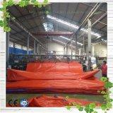 Bâche de protection ignifuge de camion de couverture en plastique imperméable à l'eau rouge de toiture