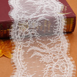 Merletto di colore giallo del tessuto del merletto di velare di cerimonia nuziale da vendere