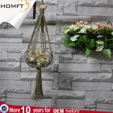 性質カラー綿ロープのGardenshopの装飾の花の陶磁器の鍋つかみ