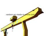 Luz Vanbon/ montado pesado guindaste de pórtico com guincho de corrente elétrico