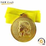 Progettare la medaglia per il cliente corrente di Trophie di sport del metallo di maratona dell'oro