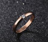 형식 심혼 및 화살 입방 지르코니아 결혼 반지 로즈 금 또는 까만 은 색깔 고아한 반지