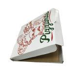 Rectángulo acanalado de encargo barato de la pizza de la categoría alimenticia de la impresión