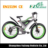 Green Powerful Beach Cruiser Fat Tire Bicicleta eléctrica