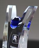 Recorte hecho personalizado Galss Crystal Award Trophy