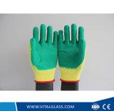 Прокатанная перчатка работы безопасности покрынная латексом