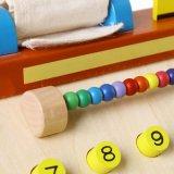 Die hölzernen pädagogischen Simulations-Registrierkasse-Kinder täuschen Spiel-Spiel-Spielwaren vor