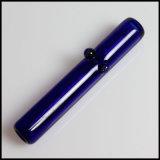 La main verte de tube de Straigth de tabac de Steamroller siffle la pipe de fumage en verre