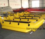 Vente gonflable de bateaux de banane de bateau de Folable de personne de Liya 3-8