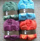 Commerce de gros Coral Fleece peignoir de bain pour les adultes super doux tissus de laine polaire