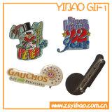 Venta caliente de colores de moda de impresión de la insignia del Pin con epoxi