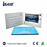 LCDの広告のためのビデオグリーティングCard/LCDのビデオパンフレット