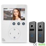 Обеспеченность дверного звонока Interphone домашняя 4.3 видео- дюйма внутренной связи Doorphone