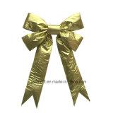 Bowknot Handmade золота Non-Woven для украшения рождества