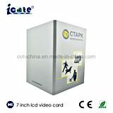 Diseño especial folleto video de la comercialización del asunto del jugador del LCD de 7 pulgadas con el bolsillo