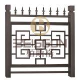 Barandilla del acero inoxidable y pasamano modificados para requisitos particulares de la escalera con el arte de bronce