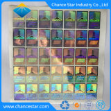 3D Tamper-Proof impresión personalizada etiqueta holograma azul