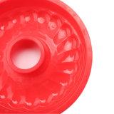 Certificat de moule à cake en silicone de la FDA, forme ronde creuse moule à cake en silicone/pudding moule