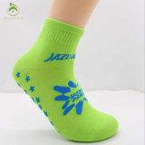 Синий цвет против скольжения трикотажные хлопка Custom Пилатес Йога носки