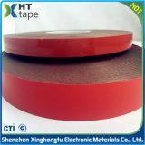 Cinta adhesiva echada a un lado doble de acrílico de Vhb de la cinta del negro rojo de la película