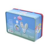 Viereck Higed Kappen-Zinn-Kasten für verpackenpinsel
