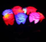 Fiore artificiale variopinto di plastica di vendita calda LED dell'OEM