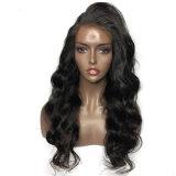 Корпус черного цвета из синтетических материалов Dlme кривой кружева Wig волос спереди