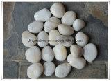질 아름다운 Polished 백색 둥근 자갈 돌