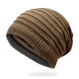 Mode brodé personnalisé tricoté Hat hiver Chapeau chaud femmes Beanie