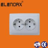 Стенная розетка 16A EU Elendax дешевая двойная электрическая (F1210)