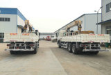 新しいJAC 6X4のトラックは4つの段階ブームのクレーン車によって取付けた