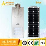 réverbère solaire de la batterie lithium-ion LiFePO4 incorporée de 50W DEL