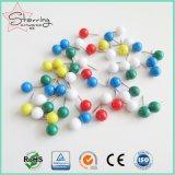 分類されたカラープラスチック丸いボールヘッドマップPin
