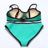 Costume da bagno luminoso del bikini del neoprene di colore di modo sexy