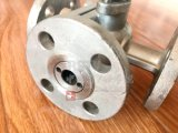 Vávula de bola de la manera del borde 3 del acero de molde