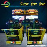 Video gioco a gettoni che guida correndo simulatore che corre la macchina del gioco