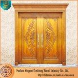 Entrée principale de Desheng dernière conception des portes en bois Prix