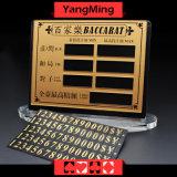 Знак предела таблицы казина карточки париа зрелищности таблицы покера Baccarat чисто медный материальный с вставлять магнита (YM-LC08)