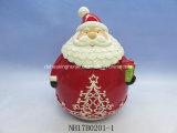 Санта Клаус керамические Cookie Jar для рождественские украшения