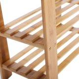 As sapatas de 3 níveis para suporte do Organizador de bambu natural Rack da Sapata