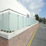 Varanda moderno design balaustrada de vidro com varanda para o padrão da América