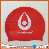 新型の印刷の赤い大人のシリコーンの水泳帽