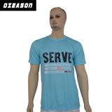 I brevi uomini del collo di squadra del manicotto raffreddano la maglietta asciutta di sublimazione di misura