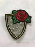 결정에 로즈 꽃 철은 의류를 위한 주제 열전달 모조 다이아몬드 장을 구슬로 장식한다