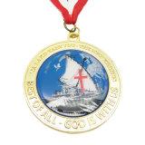 L'oro/argento in lega di zinco personalizzati caldi assegna la medaglia per il ricordo (MD05-B)