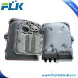 FTTX FTTH Polo de la pared de fibra óptica montados en el cuadro de distribución de alojamiento de 24 puertos de red de acceso