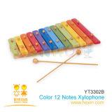 Échelles de couleur en bois 12 Xylophone (YT3302B)