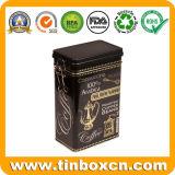De Doos van het Tin van de Koffie van de douane met Plastic Luchtdicht Deksel, het Tin van de Koffie met Mechanisme, het Blik van het Tin van het Metaal, Container voor de Verpakking van de Koffie